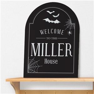 Halloween Personalized Wall Sign U794780