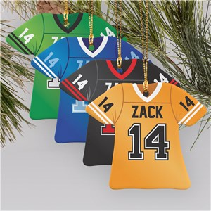 Personalized Football Jersey Ornament | Football Ornaments Personalized
