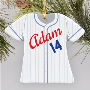 Personalized Baseball Jersey Ornament | Personalized Baseball Ornament