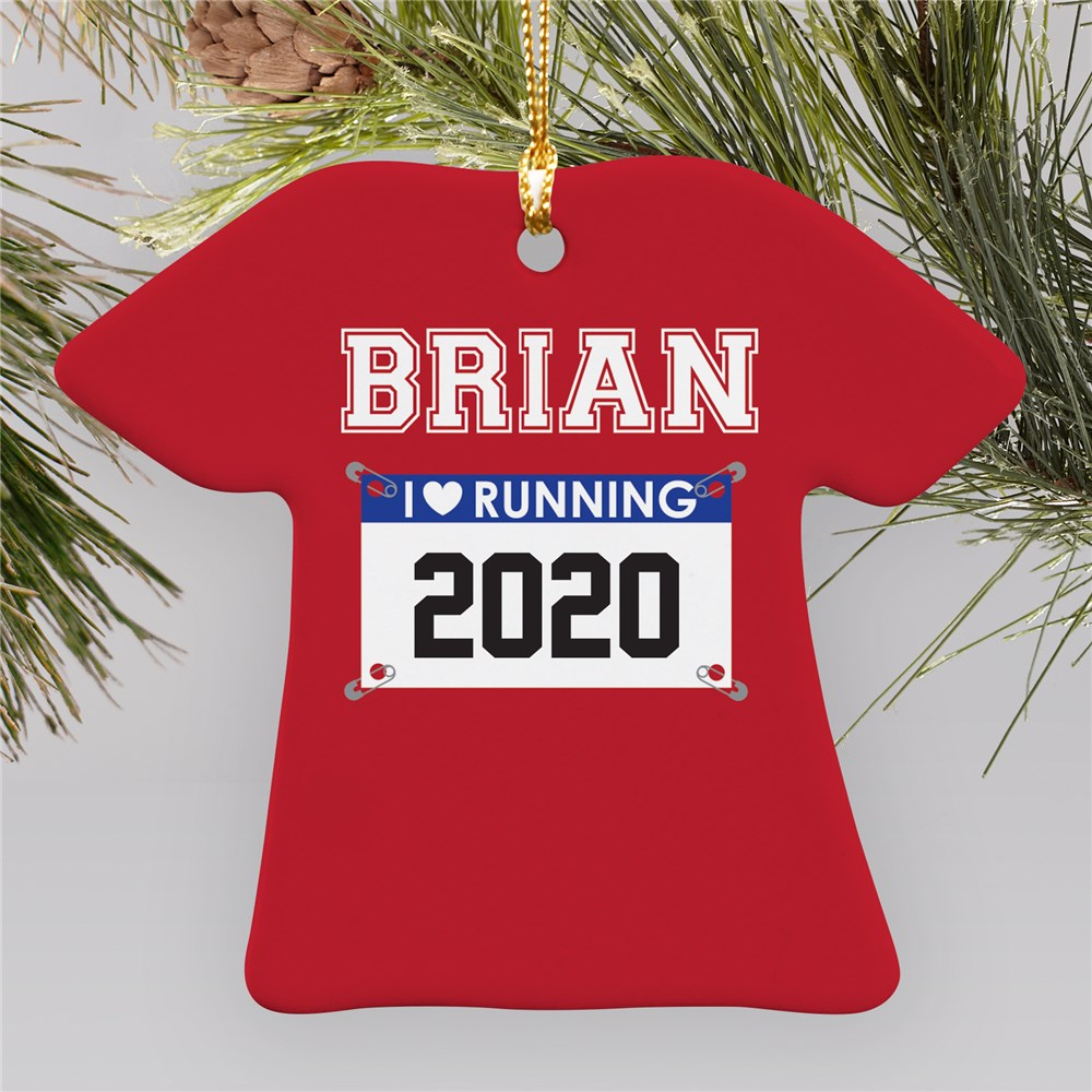 Personalized I Love Running Ornament U796563