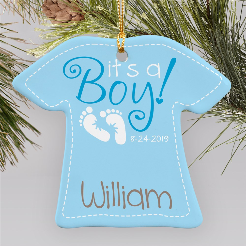 It's A Boy Ornament | Personalized Baby Ornament |Personalized Baby Ornaments
