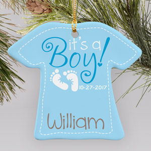 It's A Boy Ornament U796763