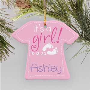 It's A Girl Ornament | Personalized Baby Ornament |Personalized Baby Ornaments
