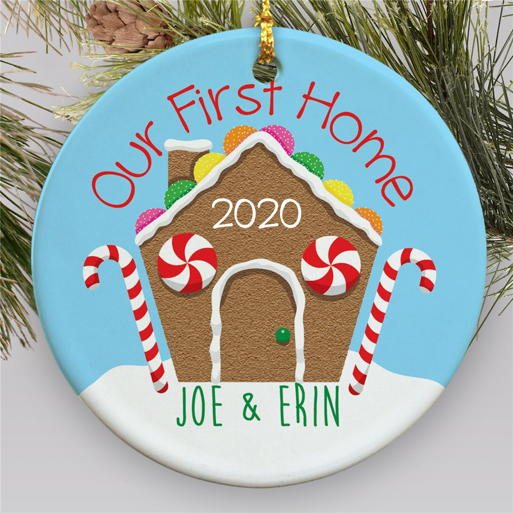 Our First Home Personalized Ornament | Personalized Wedding Ornaments