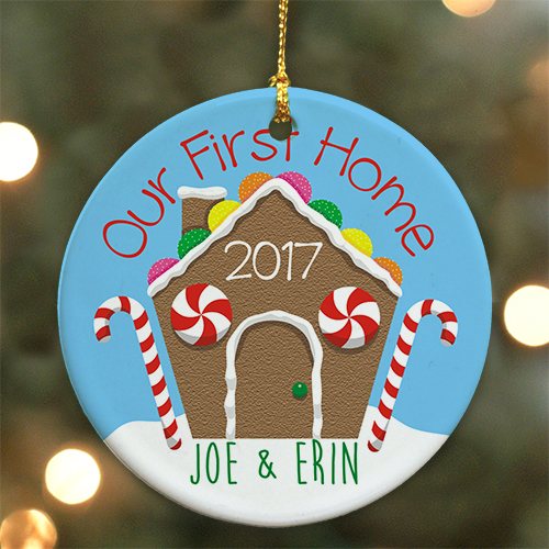 Our First Home Personalized Ornament U799110