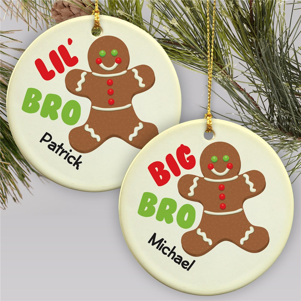 Big Brother - Lil Brother Gingerbread Ornament | Kids Christmas Ornaments