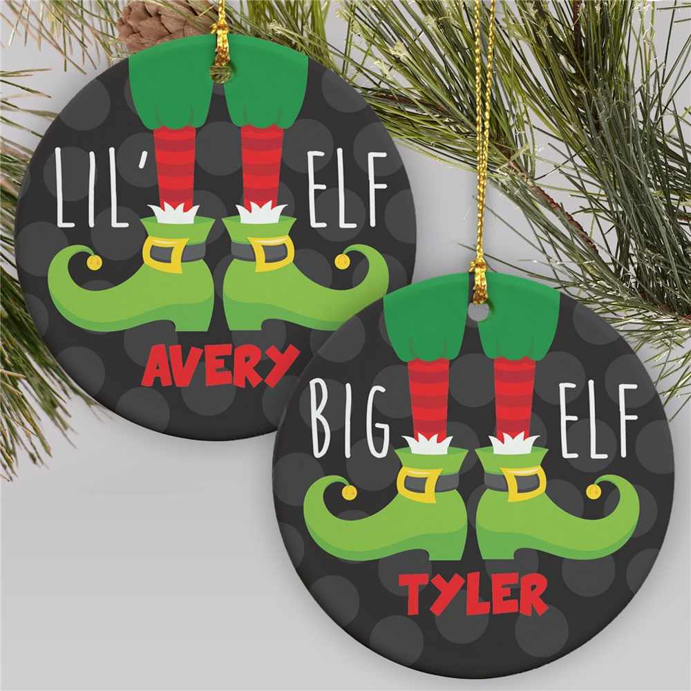 Personalized Elf Ornament | Ceramic | Personalized Ornaments