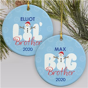 Big Brother - Lil Brother Snowman Ornament | Personalized Christmas Ornaments