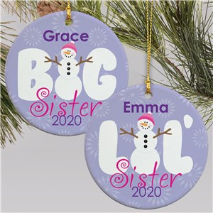 Sister Christmas Ornament | Ceramic | Kids Christmas Ornaments
