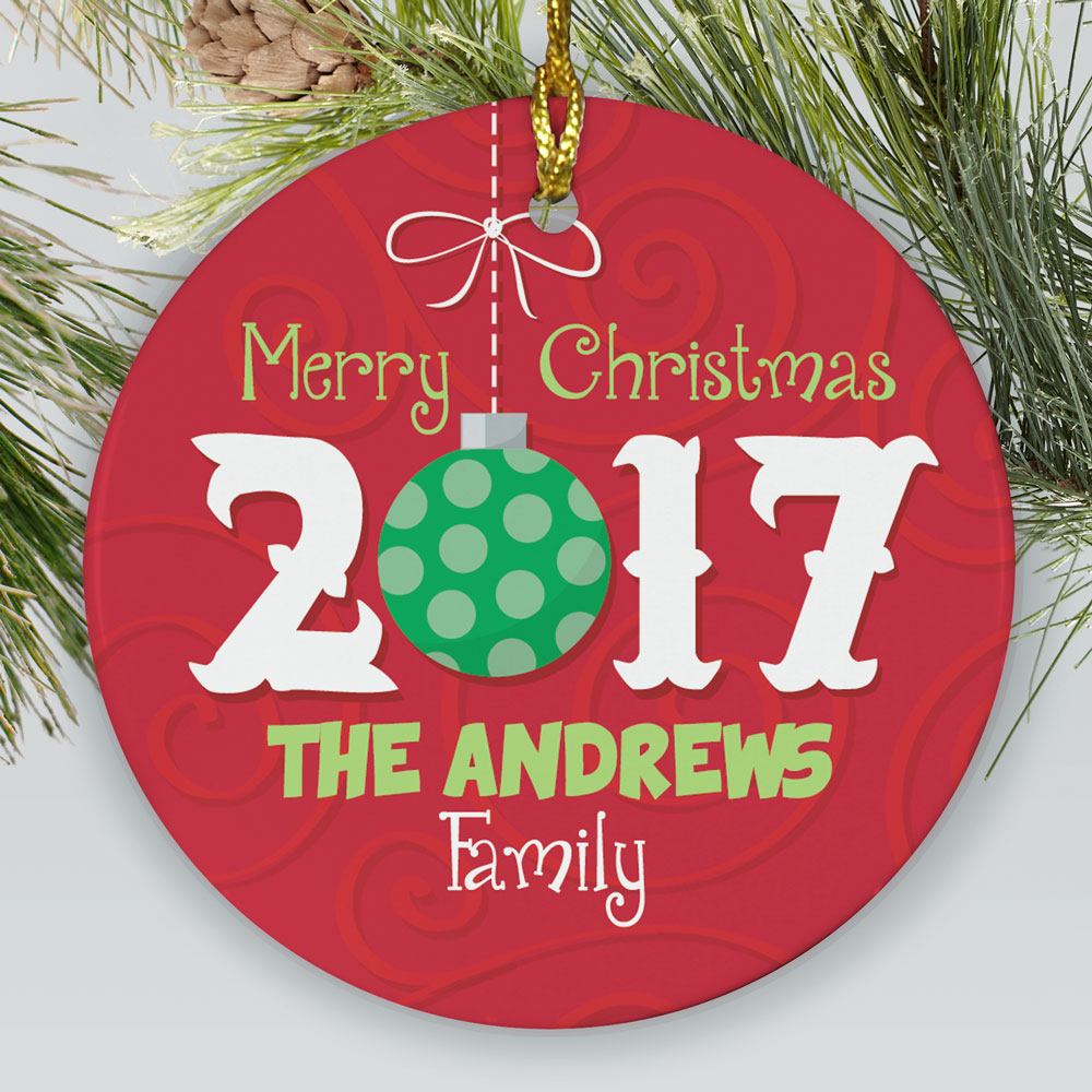 Personalized Merry Christmas Ornament | Personalized Christmas Ornaments