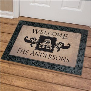 Welcome Monogram Doormat | Monogram Doormat