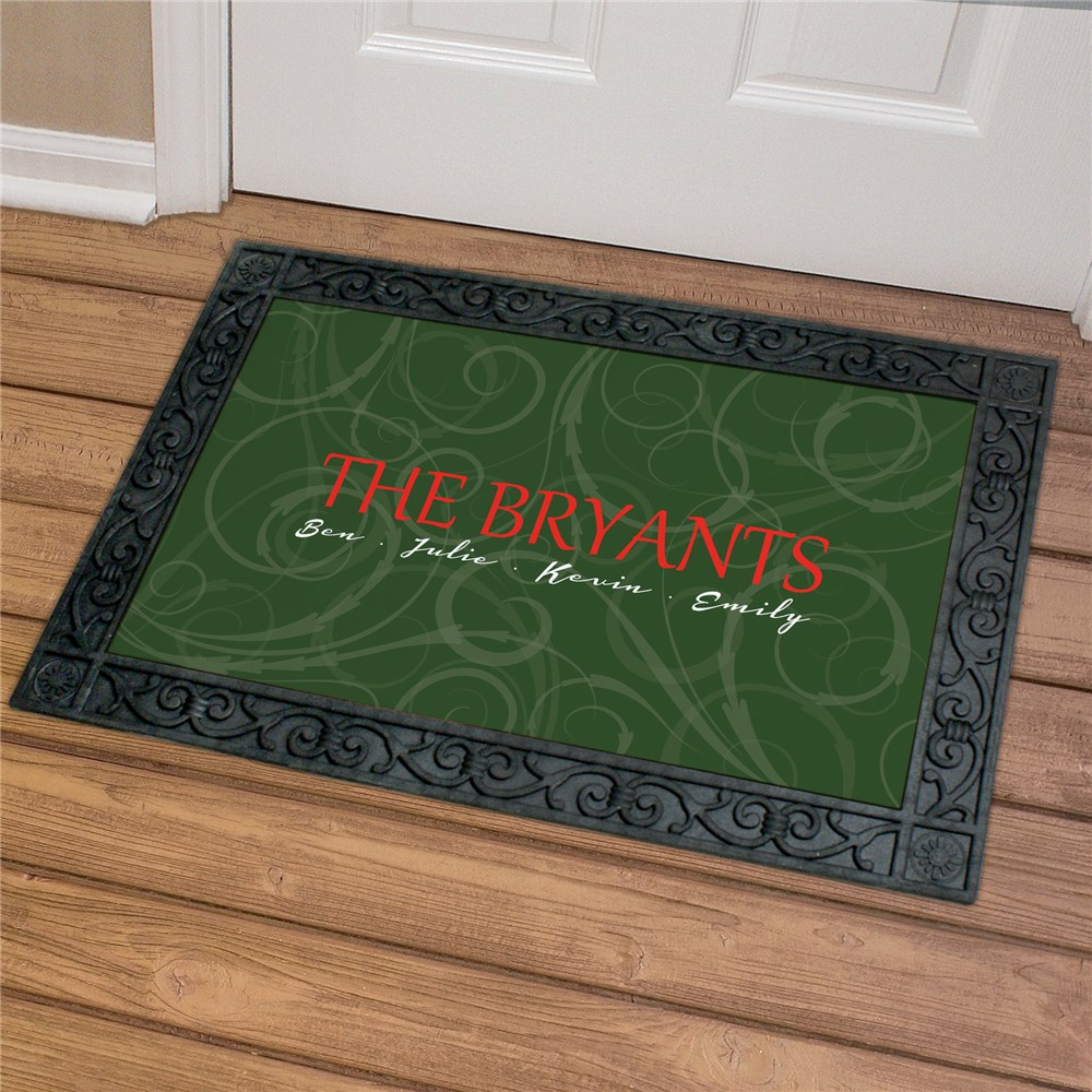 Family Initial Doormat | Personalized Doormats