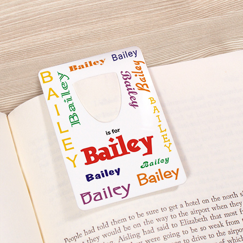 Personalized Name Bookmark - A is for...Design U8165