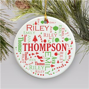 In Loving Memory Ceramic Ornament | Personalized Christmas Ornament