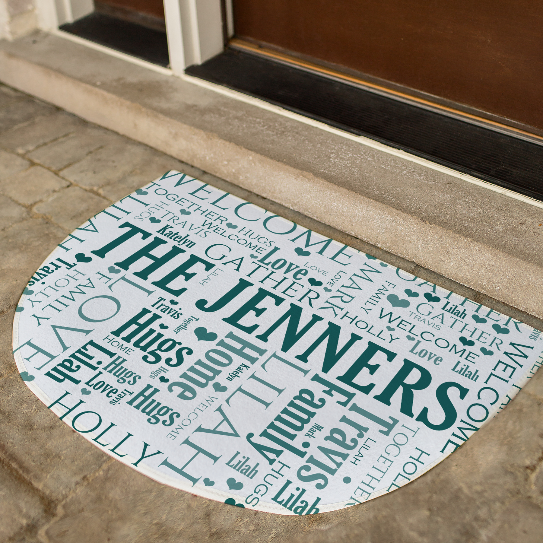 Personalized Family Doormat | Word Art Home Decor