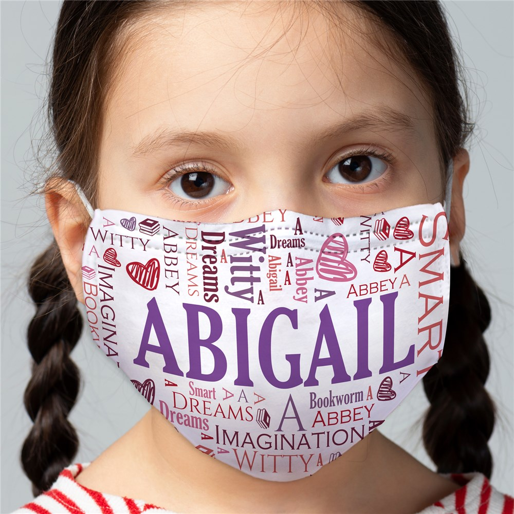 Family Word Art Child Face Mask