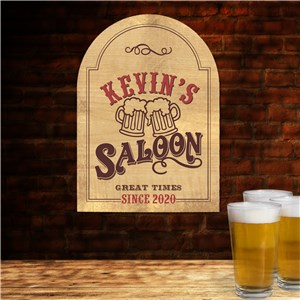 Personalized Saloon Wall Sign | Personalized Fathers Day Gift