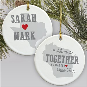 Personalized Relationship Ornament | Personalized Couples Ornament