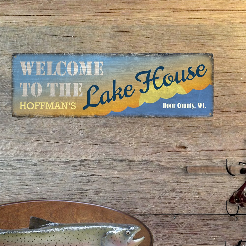 Personalized Lake House Wall Sign