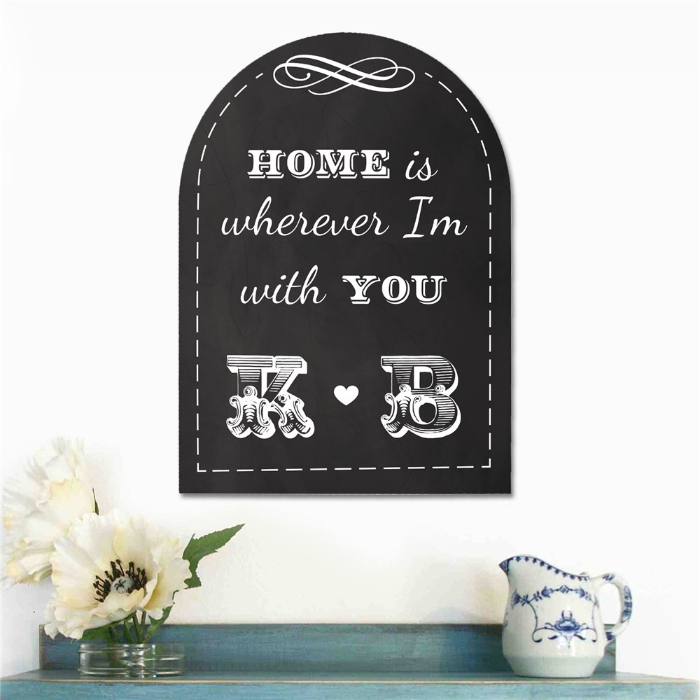 Personalized Couples Home Wall Sign | Personalized Signs for Couples