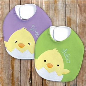 Personalized Easter Baby Bib | Baby Chick Bib