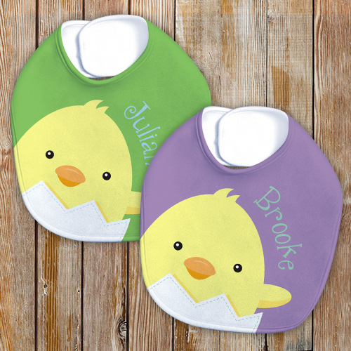 Easter Personalized Baby Bib | Personalized Easter Baby Bib