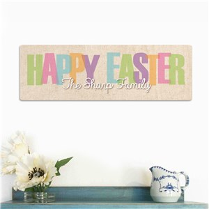 Easter Personalized Welcome Signs | Personalized Easter Wall Sign