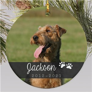 Personalized Pet Memorial Ornament | Photo Pet Memorial Ornament