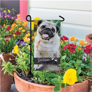 Pet Memorial Photo Garden Flag