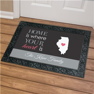 Personalized Where Your Heart Is Doormat | Personalized Housewarming Gifts