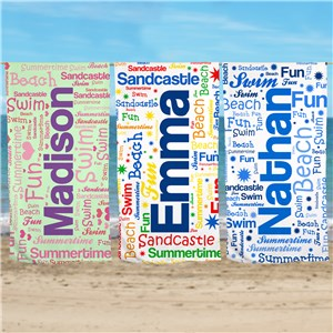 Word-Art Beach Towel | Personalized Word Art