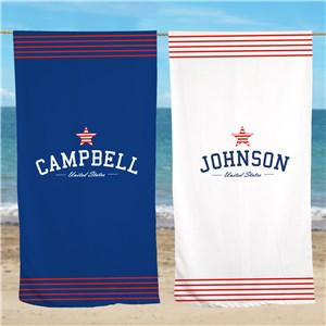 American Pride Beach Throw U954033