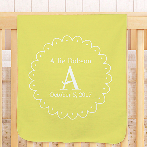 Personalized Baby Initial Blanket | Personalized Blankets