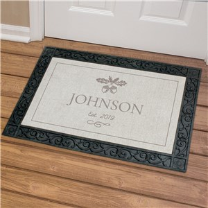 Personalized Fall Acorn Welcome Mat | Personalized Doormats