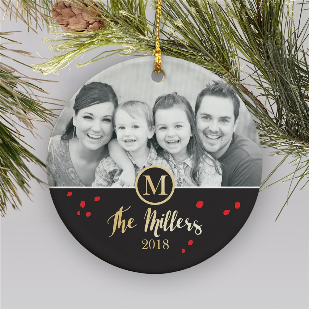 Ceramic Family Photo Ornament | Picture Ornaments