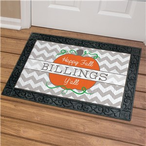 Chevron Fall Personalized Doormat | Personalized Doormats