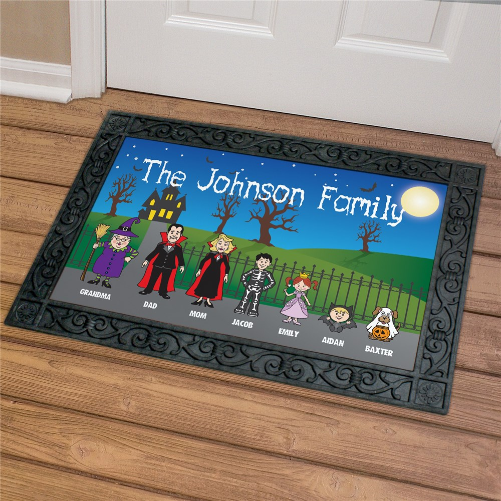 Halloween Character Welcome Doormat U966583X