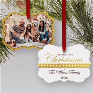 Blessings of Christmas Photo Ornament | Picture Ornaments