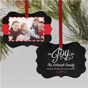Christmas Joy Photo Ornament | Picture Ornaments