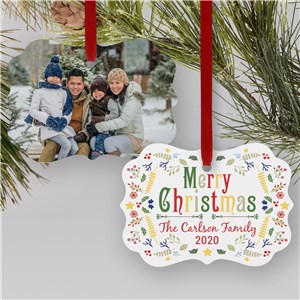 Festive Christmas Photo Ornament | Personalized Ornament