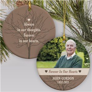 Memorial Ornament Photo Keepsake | Personalized Memorial Ornaments
