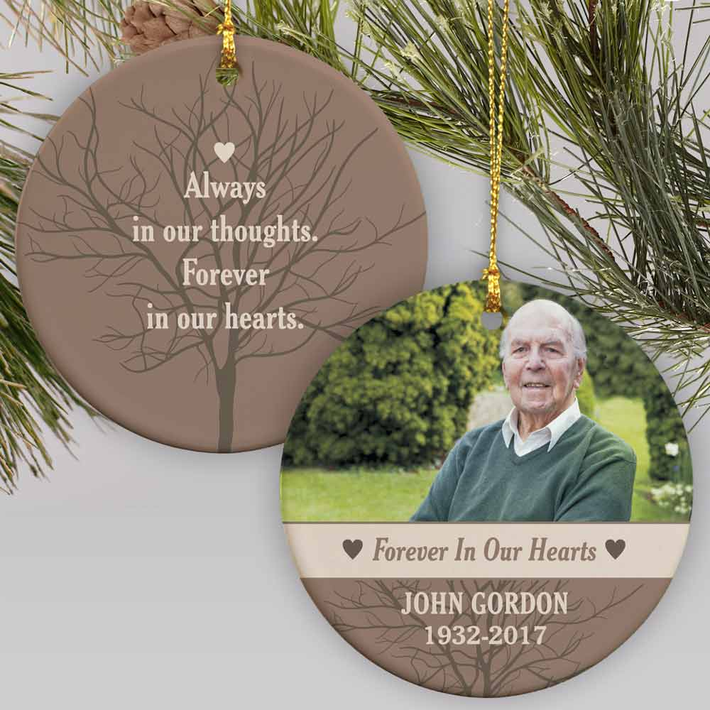 Forever In Our Hearts Photo Ornament | Personalized Memorial Ornaments