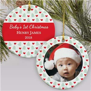 First Christmas Baby Photo Ornament | Baby's First Christmas Ornaments