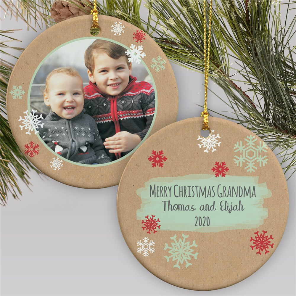 Photo Ornament with Personalized Message | Picture Ornaments