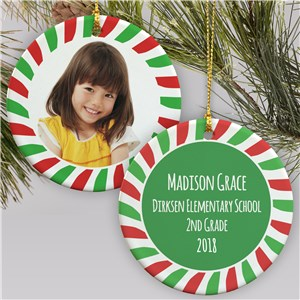 School Photo Christmas Ornament | Picture Ornaments