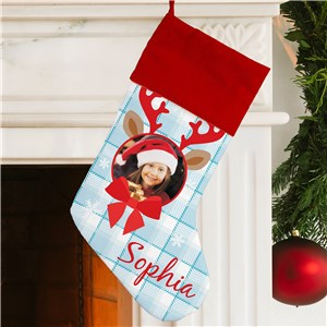 Reindeer Portrait Personalized Stocking | Unique Christmas Stockings