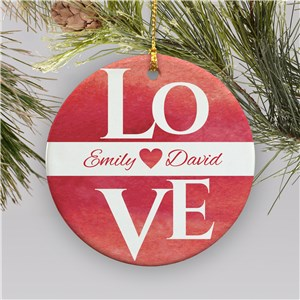 Personalized Love Ornament | Personalized Couples Ornament