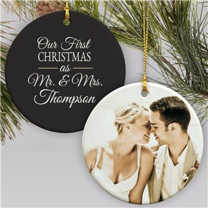 Mr & Mrs First Christmas Ornament | Couples First Christmas Ornament