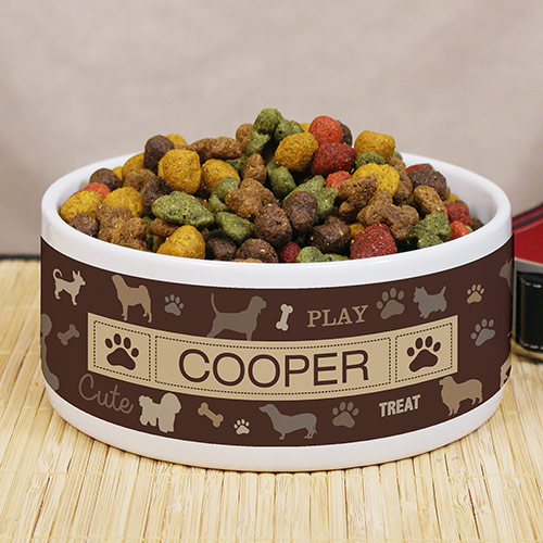 Personalized All Breeds Pet Bowl U991014