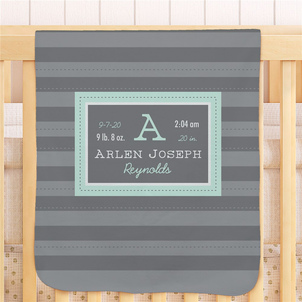 All About Baby Personalized Fleece Blanket | Personalized Baby Gifts
